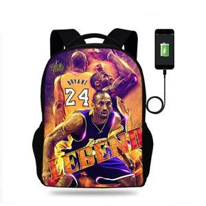 "Kobe Bryant 17"" Backpack with USB Port & Speaker -"